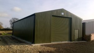 Favorable 30ft x 60ft Olive Green Machinery Store